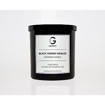 أسود الكرز ميرلوت شمعة الصويا المعطرة
