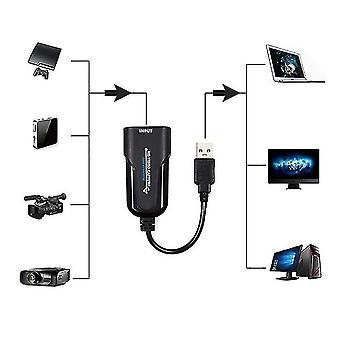כרטיס לכידת USB ל- HDMI,כרטיס לכידת וידאו 4K,1080p60 מנהל התקן של לכידת מסגרות