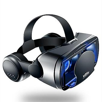 2021 Vrg 프로 안경 VR 가상 현실 3D 안경 용 5.0-7.0 인치 스마트폰 블루 레이 헤드셋 안경