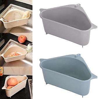 Cocina baño filtro estante organizador triangular lavabo colador