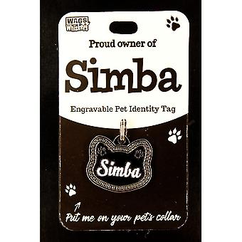 Wags & Whiskers Pet Cat Identity Tag - Simba