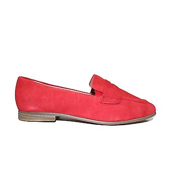 タマリス24235赤い革の女性は靴に滑る