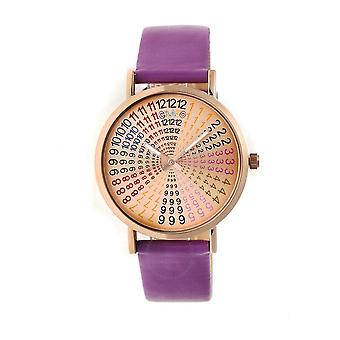 Crayo Fortune Rose Dial Periwinkle Leatherette Watch CRACR4307