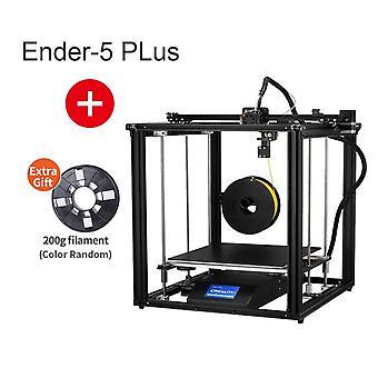 Stampante ender-5 plus 3d ad alta precisione livellamento automatico di grandi dimensioni, doppio spegnimento dell'asse Z riprendono creality 3d