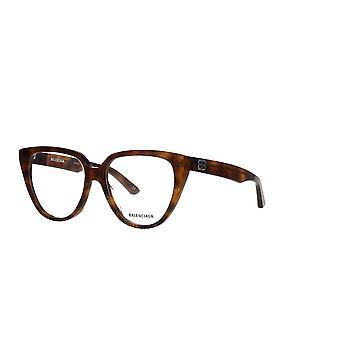 Balenciaga BB0129O 002 Havana Glasses