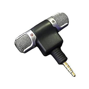 Mini 3,5 mm konektorový mikrofón podporuje 2-kanálové nahrávanie. pre nahrávanie mobilný telefón štúdio rozhovor mikrofón pre smartphone