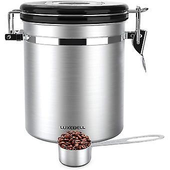 Kaffeedose Edelstahldose Aromaverschluss fr 500g / 1,5 Liter Kaffeebohnen, Tee, Kakao, Msli, Nudeln,