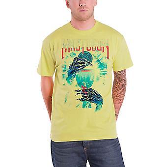 Mastodon T skjorte vanhellige seremonien bandet Logo offisielle Mens nye gul