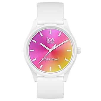 Ice-Watch - ICE aurinkovoima Sunset California - Naisten valkoinen kello silikonihihnalla - 018475 (Pieni)