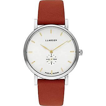 LLARSEN Analogueic Watch Quartz Woman with Leather Strap 144SWG3-SORANGE18