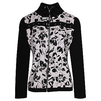 Frank Lyman Sports Luxe Zip Up Floral Jacket