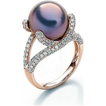 Luna-Pearls - Ring - Pearl Ring Brilliant - Rose Gold - 005.0951 Gr 56 (17.8mm)