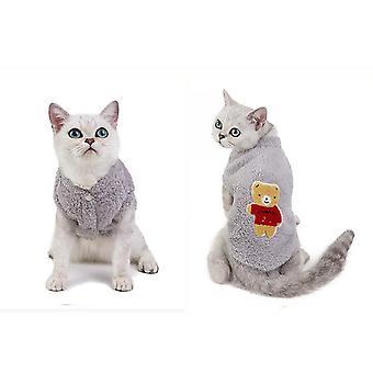 Winter pet cat clothes soft coral fleece clothing