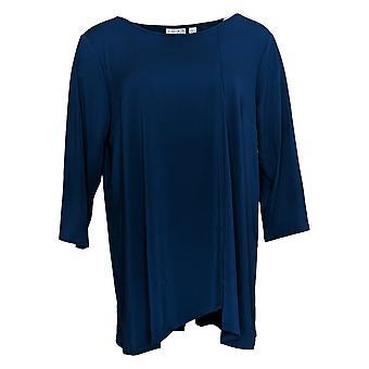 Joan Rivers Classics Collection Women's Top Knit Criss Cross Blue A309272