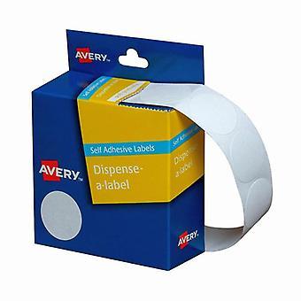 Avery Dispenser Dot Sticker Handwritable White 24Mm Roll Of 550