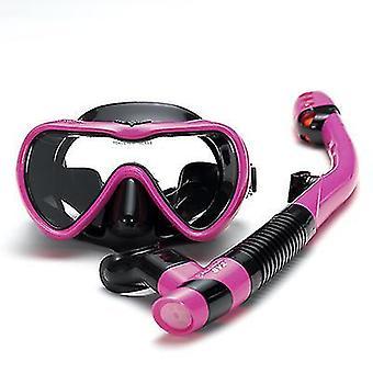 Snorklaussetti Uimaevä panoraamanäkymä Scuba Maskanti Fog Snorkeling Gear (Vaaleanpunainen)