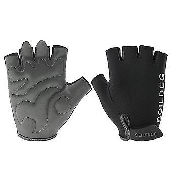 BOODUN Half-Finger Riding Glove Outdoor Motorrijden Fietsen Beschermende Vinger Handschoenen-M/L/XL