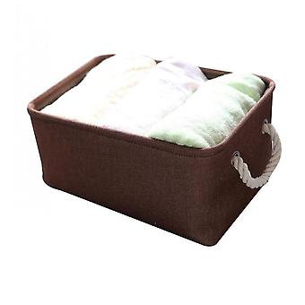 Fabric Storage Baskets, Rectangular Collapsible Baskets For Shelves
