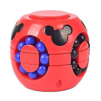Børns pædagogiske Burger Cube legetøj, Anti-Stress Puzzles Rubik's Cube legetøj (Rød)