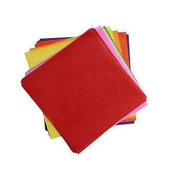 480 Assorted Colours Tissue Paper Squares for Kids Crafts - 75mm