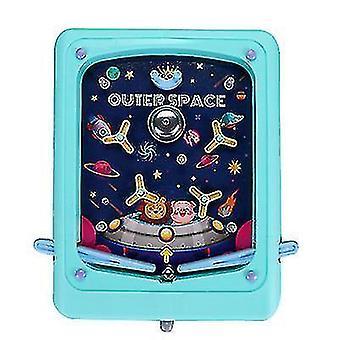 Creative Children's Pinball Game Cartoon Handheld Game Machine Maze Ejection Score Machine(Blue)