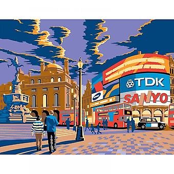 Sequin Art London Piccadilly Circus Large Paint By Numbers