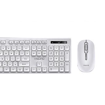 Laptop,ultra Slim Cordless Keyboard Mouse Combo Set(White)