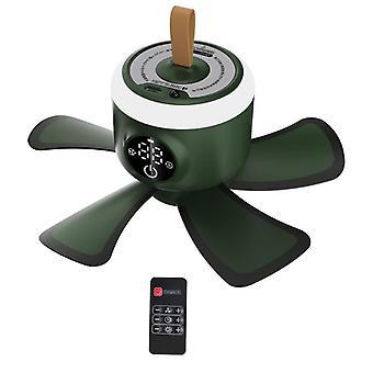 Mini fans  usb rechargeable  camping fan 4 gears tent ceiling fan with led lamp