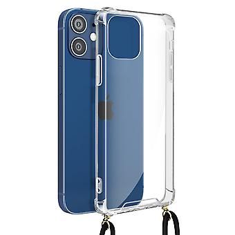 Cover Lanyard for Apple iPhone 12 Mini Flexible Neck Strap Clear