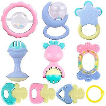 Baby Rattles Teether Set, Grasping Grab Toy, Spin Shaking Bell(10PCS)