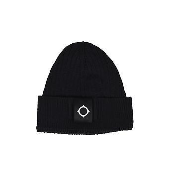 MA.STRUM Ma.strum Rib Beanie Hat Jet Black