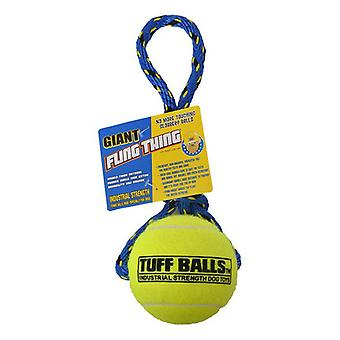 "Petsport Tuff Ball Fling Thing Dog Toy - Giant (4"" Ball)"