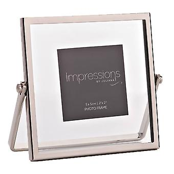 Juliana Impressions Hinged Photo Frame 2x2 - Silver