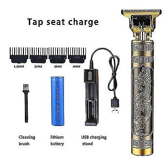 Hair clippers trimmers hairdresser t-shaped bald hair clipper trimmer men's rechargeable lawn mower t-shaped contour hair