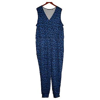 G By Giuliana Plus Jumpsuits LounGy SoSoft Knit Jogger Blue 745939