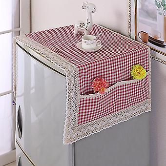 غطاء غبار الثلاجة مع حقيبة تخزين، غطاء بسيط متعدد الأغراض للغسالة، غطاء أعلى الثلاجة