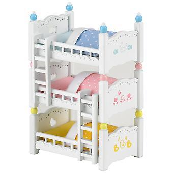 Produkty Sylvanian Families potrójne łóżko piętrowe