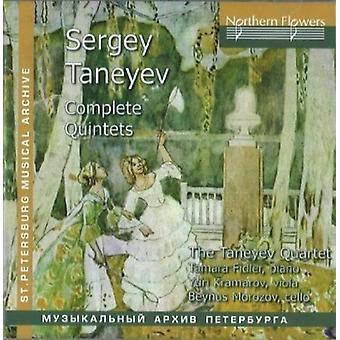 Fidler / Taneyev Quartet - S. Taneyev - Complete Quintets [CD] USA import