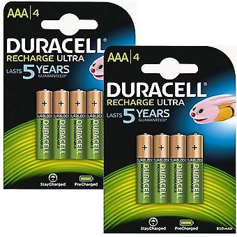 Duracell 850mAh Pre aufgeladen wiederaufladbare AAA Batterien - 8 Stück
