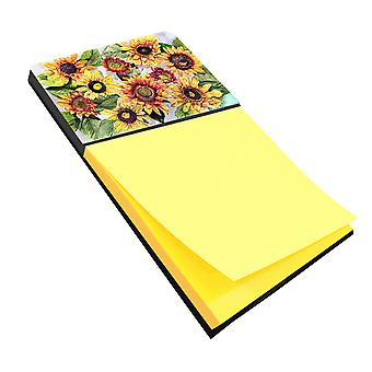 Sunflowers Refiillable Sticky Note Holder or Postit Note Dispenser