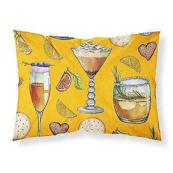 Drinks und Cocktails Gold Stoff Standard Kissenbezug