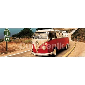 Volkswagen Camper Route One Poster Poster Print