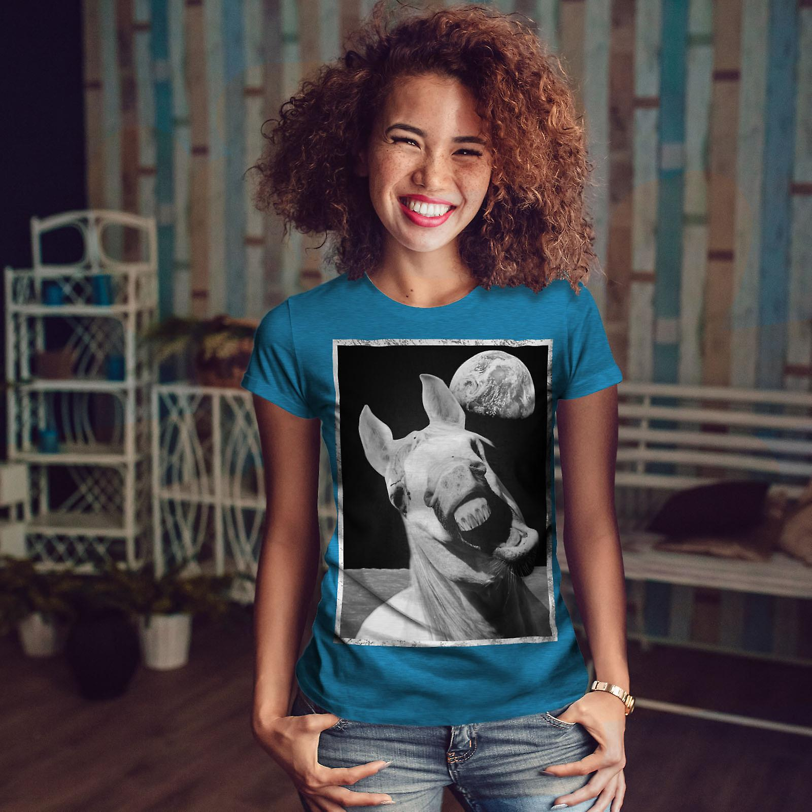 Espace femmes drôles Royal BlueT-chemise de cheval | Wellcoda