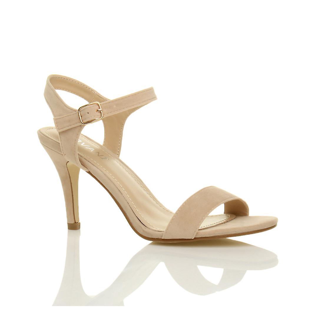 Damskie Ajvani połowie niski wysoki obcas strappy, ledwo tam impreza wesele studniówkę sandały buty fzDRl