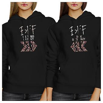 BFF Floral Crazy BFF Pullover Hoodies Matching Gift For Teen Girls