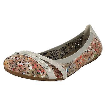 Wsuwane buty damskie Rieker płaskim buty 41458