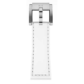 Bande de Bracelet Montre TW Steel Marc Coblen blanc cuir 22 MM LB_W_S