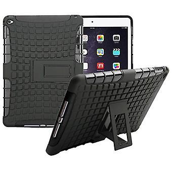 Hybride buiten beschermende cover case zwart voor Apple iPad 2 airbag
