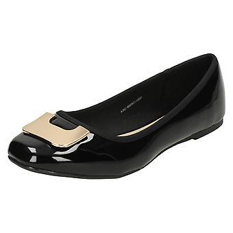 Ladies flekk på Flat Ballerina sko F80201