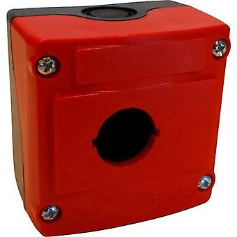 BACO LBX0100RN Carcasa 1 ranuras de instalación (L x An x H) 74 x 74 x 48 mm Rojo, Negro 1 ud(s)